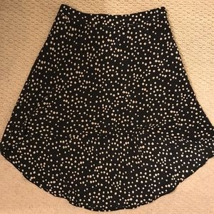 Forever 21 - High-Low Skirt (Navy and White)